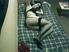 girl in sex lingerie has missionary, doggystyle and cowgirl sex. porn tube video