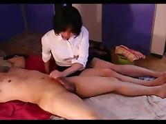 Hand job massage - censored