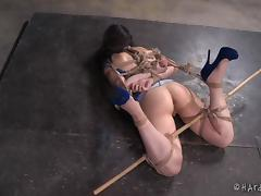 that is a lot of rope for one little slut