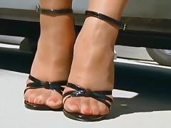 Nylons & High Heels Sandals In Spain