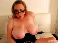 Big boobs and her act with dildos