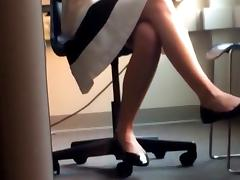 Teacher Heel Popping in Class porn tube video