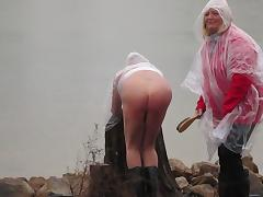 Spanking, Amateur, Femdom, Mistress, Outdoor, Punishment