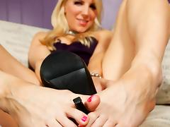 Ashley Fires in Footjob Instruction Video