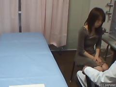 Doctor on the exam table fucking his cute Asian patient tube porn video