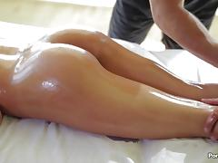 August Ames has her ass massaged and pussy penetrated porn tube video