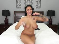 Busty babes big melons swing and bounce as he takes her from behind