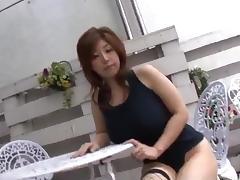 Busty milf in hot lingerie, Naho Hadsuki, fucked hard tube porn video