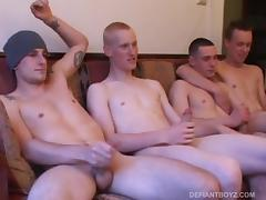 Five Young Dudes Jacking Off tube porn video