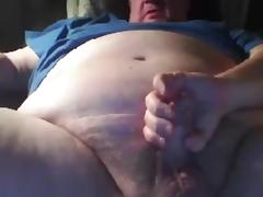 Grandpa strok and cum in cam tube porn video