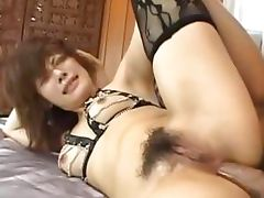 sexy asian asshole fucking with lingerie