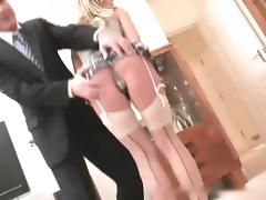 Old man makes anal creampie