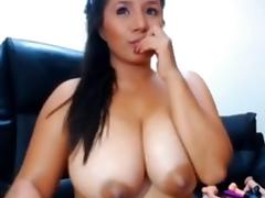 Showing my large jugs in homemade big tit porn clip porn tube video