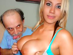 Dirty, Big Tits, Blonde, Dirty, Old Man, Stockings