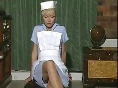 Blonde, Blonde, Masturbation, Nurse, Solo, Stockings