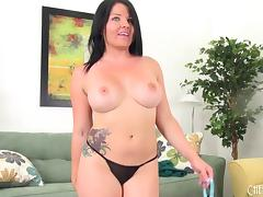 Fine ass Casey toying her wet cunt with high voltage vibrators close up