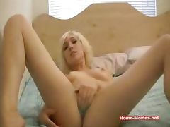 Blonde Girl Masturbating on Webcam