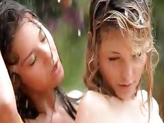 Beautiful cheerleaders in the rain tube porn video