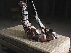 Securely taped girl in basement tube porn video