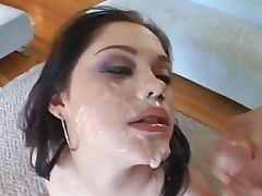big cumshots facial party