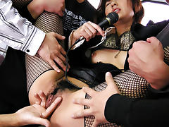 Best Japanese slut Misato Kuninaka in Crazy JAV uncensored Stockings video