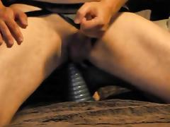 Riding a huge toy porn tube video