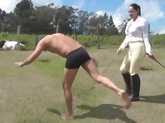 Outdoor Pony Play porn tube video