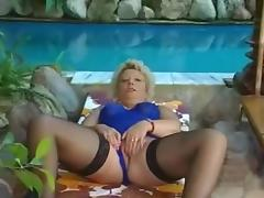 Poolside Granny Fucks
