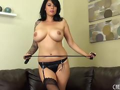Black is her favorite color and the masturbation her favorite activity