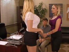 Office, Big Tits, Blonde, Blowjob, Boobs, Hardcore