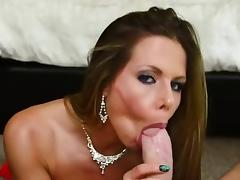 Really nasty slut banged into her mouth