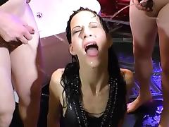 Pee drinking whore fucked
