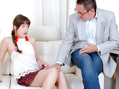 TrickyOldTeacher - Redhead cutie has been dreaming about being seduced and fucked by old math teacher porn tube video