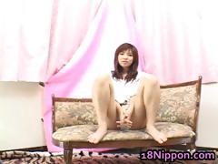 Teen Japanese Babe Masturbates And Burns