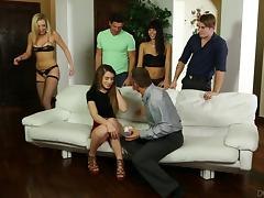 Three of the most breathtaking babes engage in the hottest orgy ever porn tube video