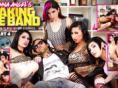 Joanna Angel & Lily Lane & Nikki Hearts in Making The Band XXX - Part 4 Scene porn tube video