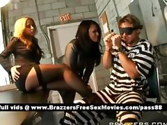 Two amazing sluts talk to a prisoner tube porn video