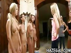 Lesbo gals have group fun tube porn video