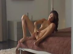 Exotic woman rubbing clit in art movie tube porn video