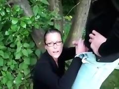 Quick Backyard Fuck With The Local Slut
