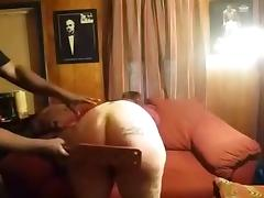 Amateur mature vid with me getting my butt spanked