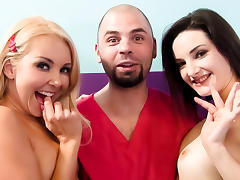 Aaliyah Love, Tegan Mohr, Ralph Long in Aaliyah Love's Wild Squirt Threesome Video porn tube video
