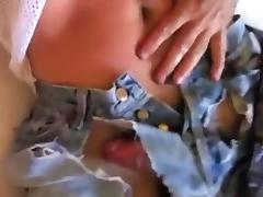 RIPPING JEANS- CUMSHOT IN OLD TAN LEVIS