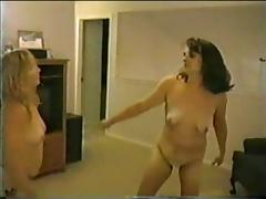 Bulky Non-Professional Catfight (two) porn tube video