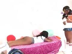 Ebony girlfriends fucking porn tube video