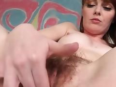 Marie McCray grows a bush and masturbates tube porn video