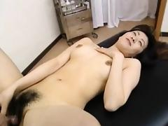 Saki Shiina has hairy cunt measured and sucks doctor phallus porn tube video
