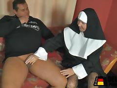 Die Nonne bei mir zuhause!