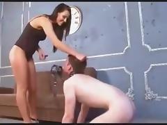 Russian mistress fucks hard sissy boy
