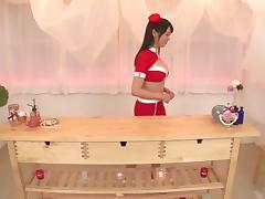 Japanese chick passionately rides and has her face decorated with cum
